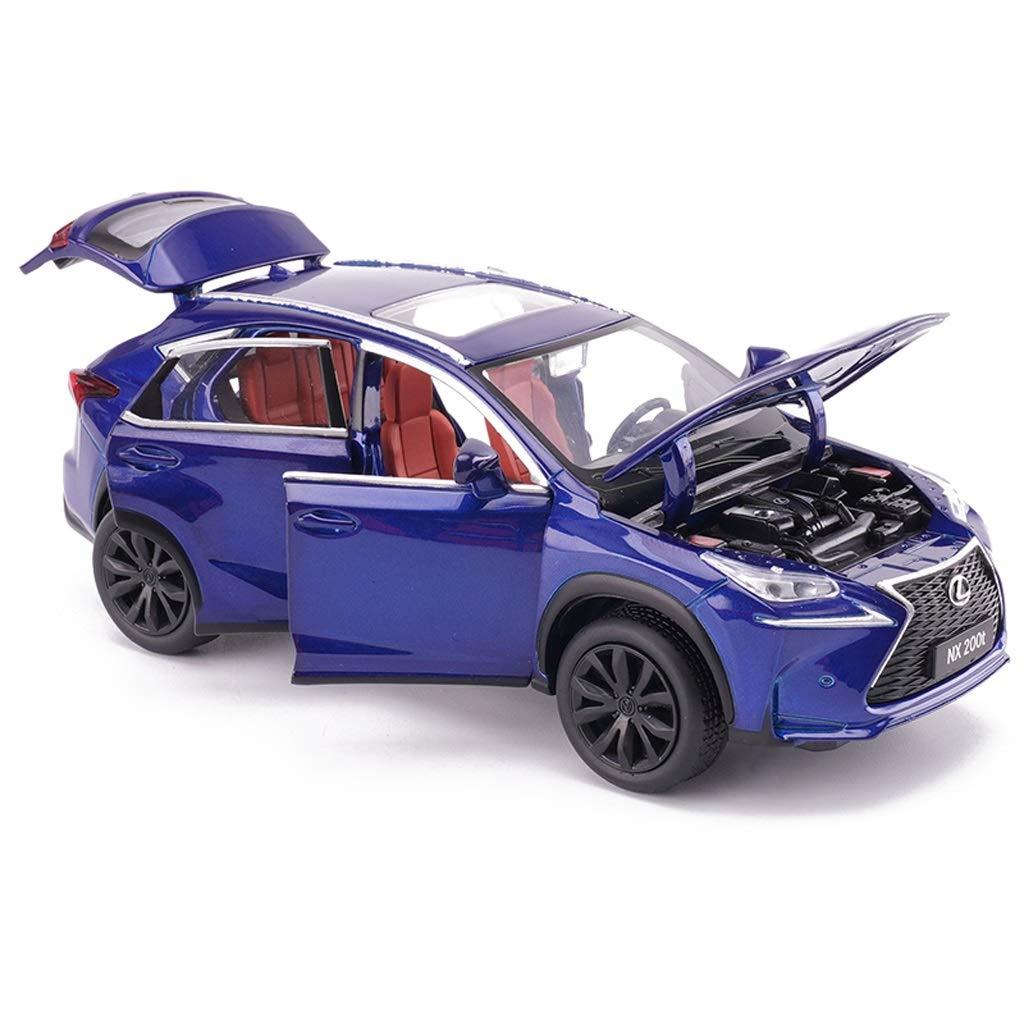 HTDZDX Modello Auto Lexus NX200T Fuoristrada 1:32 analogico pressofusione Lega Suono e Luce Tirare Indietro Giocattolo Modello di Auto 15x6x5.5CM Color : Blue