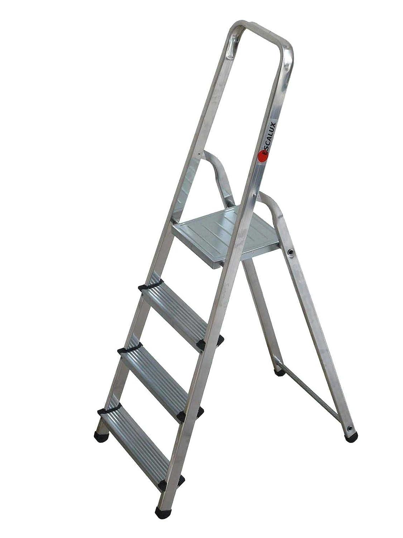 Tap 0000969 – Escalera de uso corriente aluminio 4 peldaños 2.82 M carga 150 kg: Amazon.es: Industria, empresas y ciencia