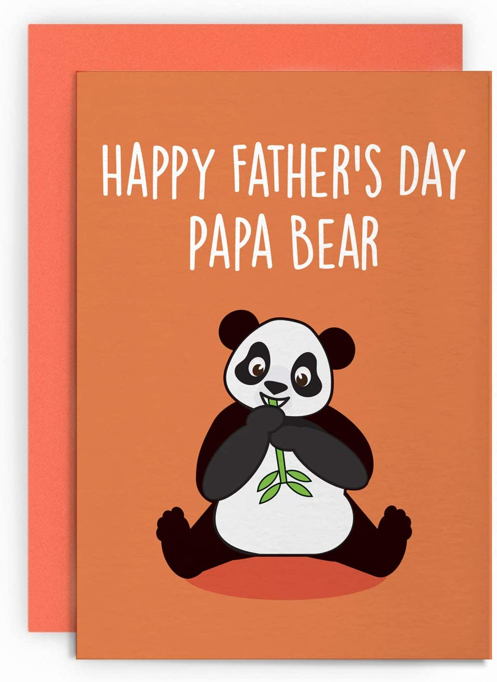 Happy Father/'s Day Panda Blank greeting card A6