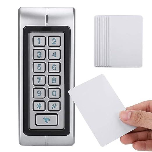 Xinwoer Seguridad Exterior Impermeable Puerta Control de ...