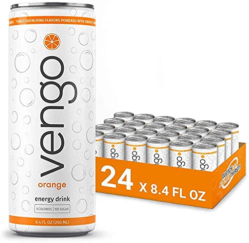 Vengo Energy – Orange Flavor – 8.4oz – 24 Pack Energy Drinks
