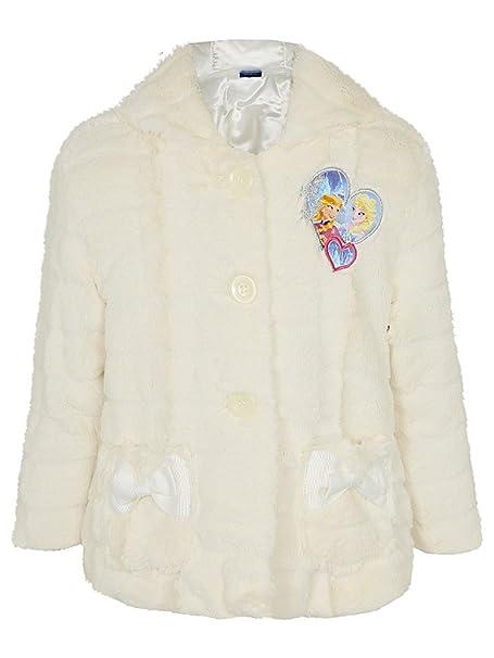 Abrigo con capucha pelo sintético para niña AU diseño de Elsa y Anna de Película de animación Disney Frozen 2 - 8 años Blanco crema: Amazon.es: Ropa y ...
