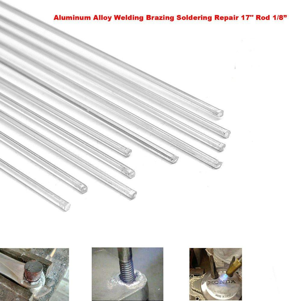 Aluminum Alloy Welding Brazing Soldering Repair 17'' Rod Cracks Polish Boat 10pcs