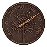 Whitehall Products Tree of Life Outdoor Thermometer in Oil Rubbed Bronze