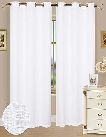 Amazon.com: Solid Window Curtain Panel 54 x 63