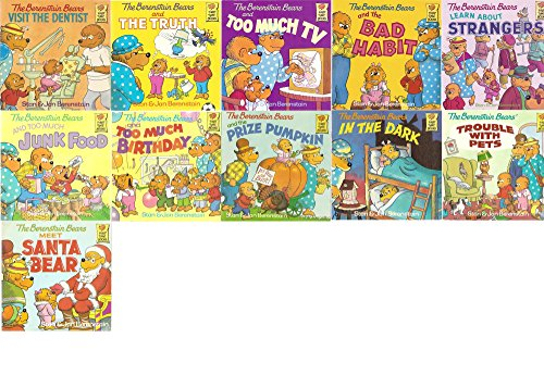 11 Volumes - The Berenstain Bears Book Bundle: Prize Pumpkin, In The Dark, Meet Santa Bear, Trouble with Pets, And Too Much Junk Food, And Too much Birthday, Learn about Strangers, The Bad Habit, And Too much TV, And The Truth, Visit the Dentist (Berenstain Bears Dark)