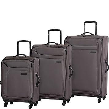 7aea68acb Amazon.com | it luggage Megalite 4 Wheel Spinner 3 Piece Luggage Set  (Charcoal) | Luggage Sets