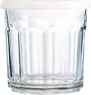 product image for Arc International Luminarc Working Storage Jar/Dof Glass with White Lid, 14-Ounce, Set of 4 (H6812)