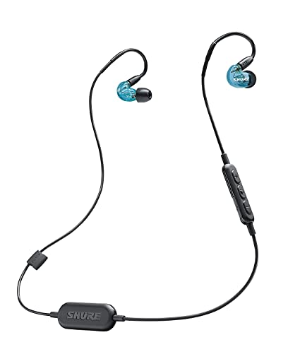 0823dad973c Amazon.com: Shure SE215SPE-B-BT1 Wireless Sound Isolating Earphones with  Bluetooth Enabled Communication Cable: Musical Instruments