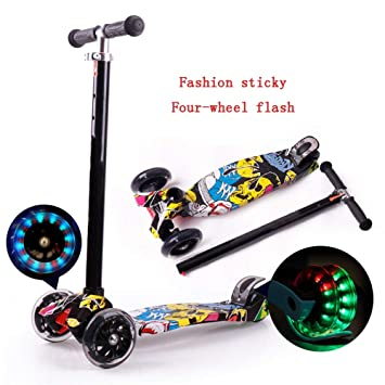 YUMEIGE Patinete Scooters Kick Scoote Altura Ajustable ...