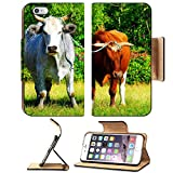 MSD Premium Apple iPhone 6 Plus iPhone 6S Plus Flip Pu Leather Wallet Case Bulls on the meadow IMAGE 19973608