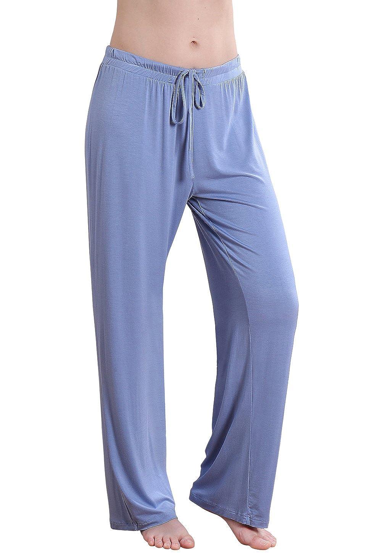 bluee Wide Vislivin Women's Stretch Knit Pajama Pants Modal Sleep Pant