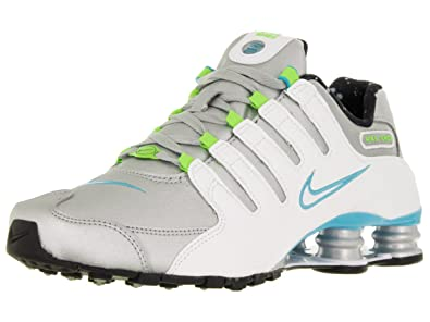 huge discount 35cc6 86bac ... low cost nike shox nz womens metalic silver gamma blue electric green  white 636088 2a4bf 5be36