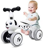 Baby Balance Bikes 10-36 Month Children Walker | Toys for 1 Year Old Boys Girls | No Pedal Infant 4 Wheels Toddler Bicycle | Best First Birthday New Year Holiday