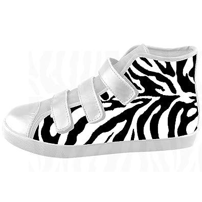 c6418e2f37cb Dalliy Custom zebra print Kids High-top Canvas Shoes Footwear Sneakers Shoes   Amazon.co.uk  Shoes   Bags