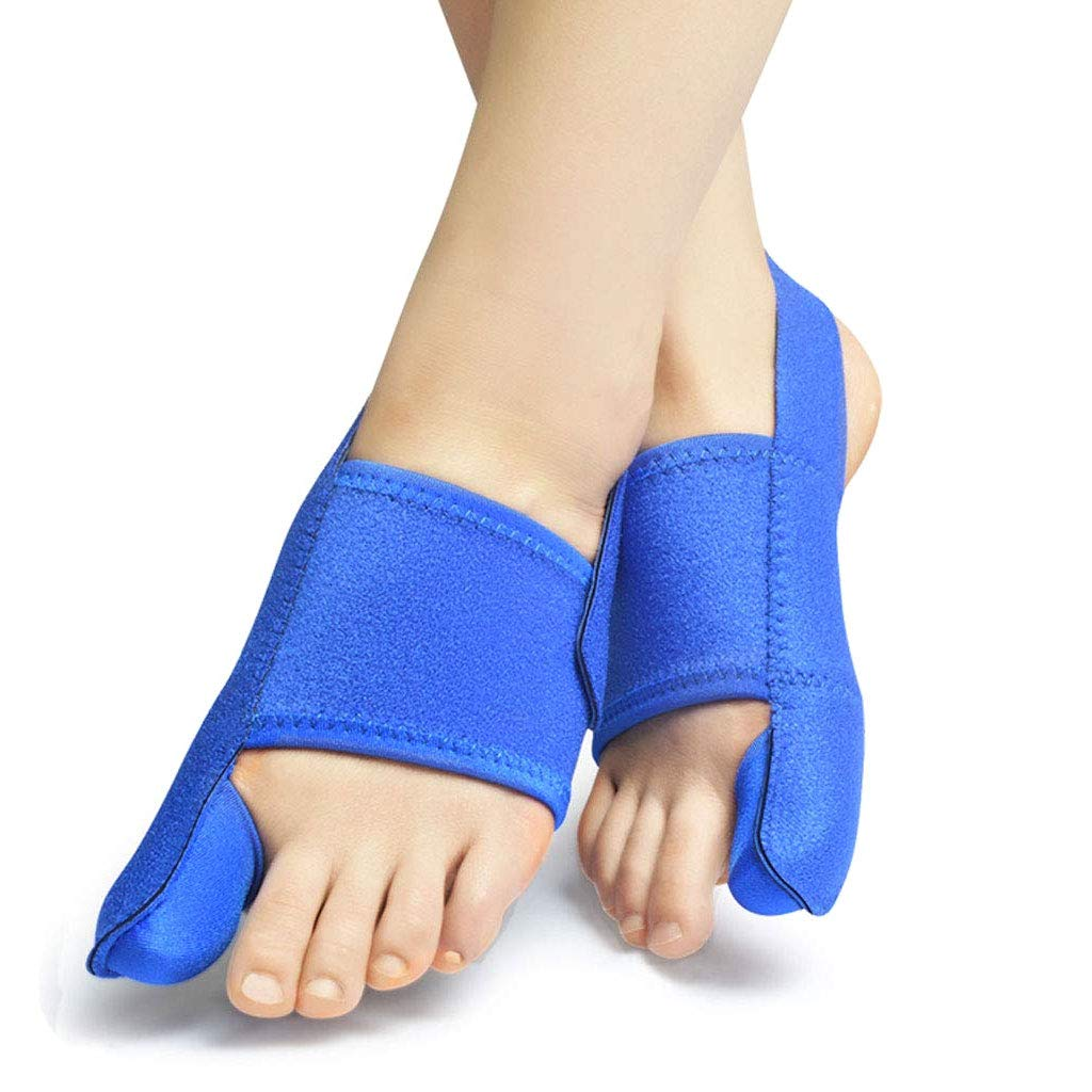DONGBALA Elastic Bunion Corrector, Adjustable 24H Day Night Protector Sleeves Toe Straightener Hallux Valgus Toe Joint Easy Wear in Shoes for Woman and Man(Blue),Onepair by DONGBALA