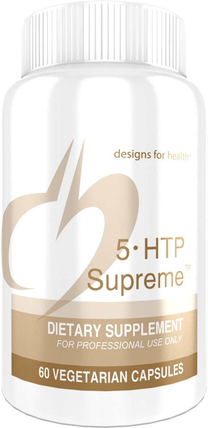 Designs for Health - 5-HTP Supreme -100mg + 20mg Vitamin B6 Mood & Relaxation Support, 60 Capsules