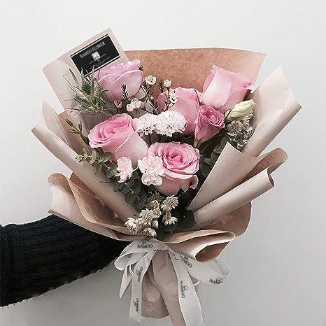 Black 23.6 Inch x 66 Feet BBJ Korean Floral Wrapping Paper Roll Florist Supplies Waterproof Flower Bouquet Wrapping Paper Floral Supplies for Fresh Flowers