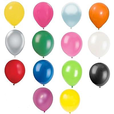 """100 piezas 12 """"(30 CM) Globos de alta calidad Pearlised Metálico Aire o Helio Boda Cumpleaños Fiesta de Navidad Decoración Disponible en 14 colores (Primavera verde): Juguetes y juegos"""
