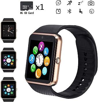 Bluetooth Smart Watch,Touch Screen Sport Wrist Watch Phone for ...