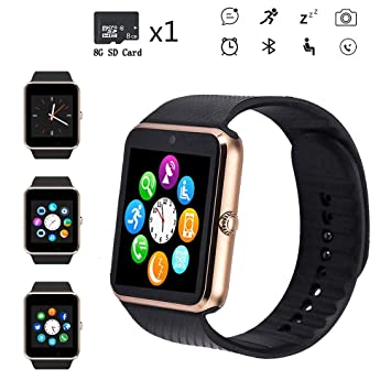 Bluetooth Smart Watch,Touch Screen Sport Wrist Watch Phone for ...