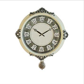 H&M Reloj de pared Reloj de pared de metal moderno europeo reloj de pared de la