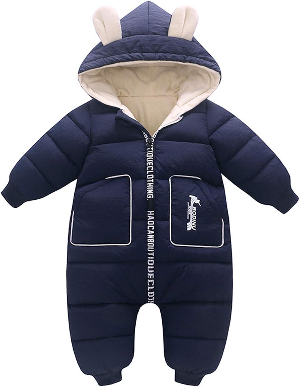 Happy Cherry Winter Baby Boys Girls Hood Down Snowsuit Jumpsuit Newborn Romper