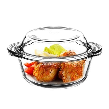 Cym - Fuente de cristal resistente al calor para ensaladas de ...