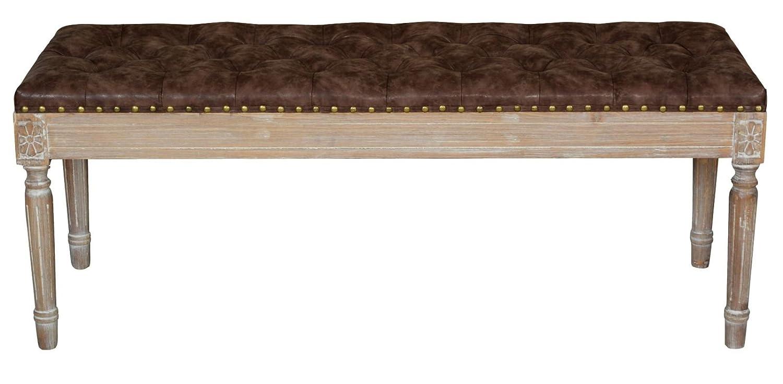 Mauro Ferretti 1419040000Bank, Holz Buche, Foam, Polyurethan, braun, 41x 120x 47cm