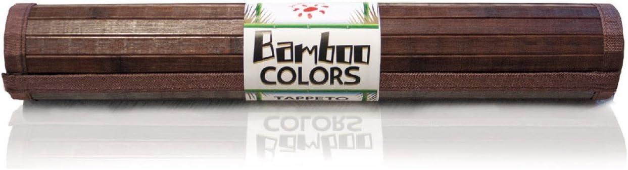 CASA TESSILE Couleurs de Tapis en Bambou Polyvalent Lane 50x75 cm. Arancione