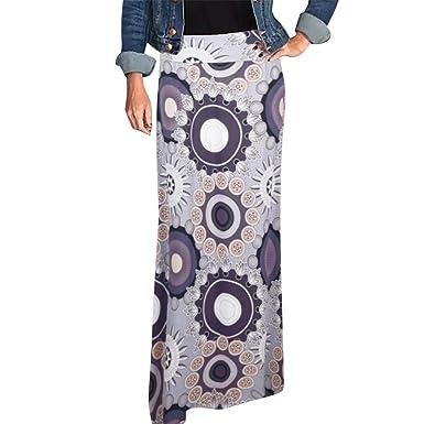 HCFKJ Faldas Mujer Cortas Falda Larga Maxi con Estampado Bohemio ...