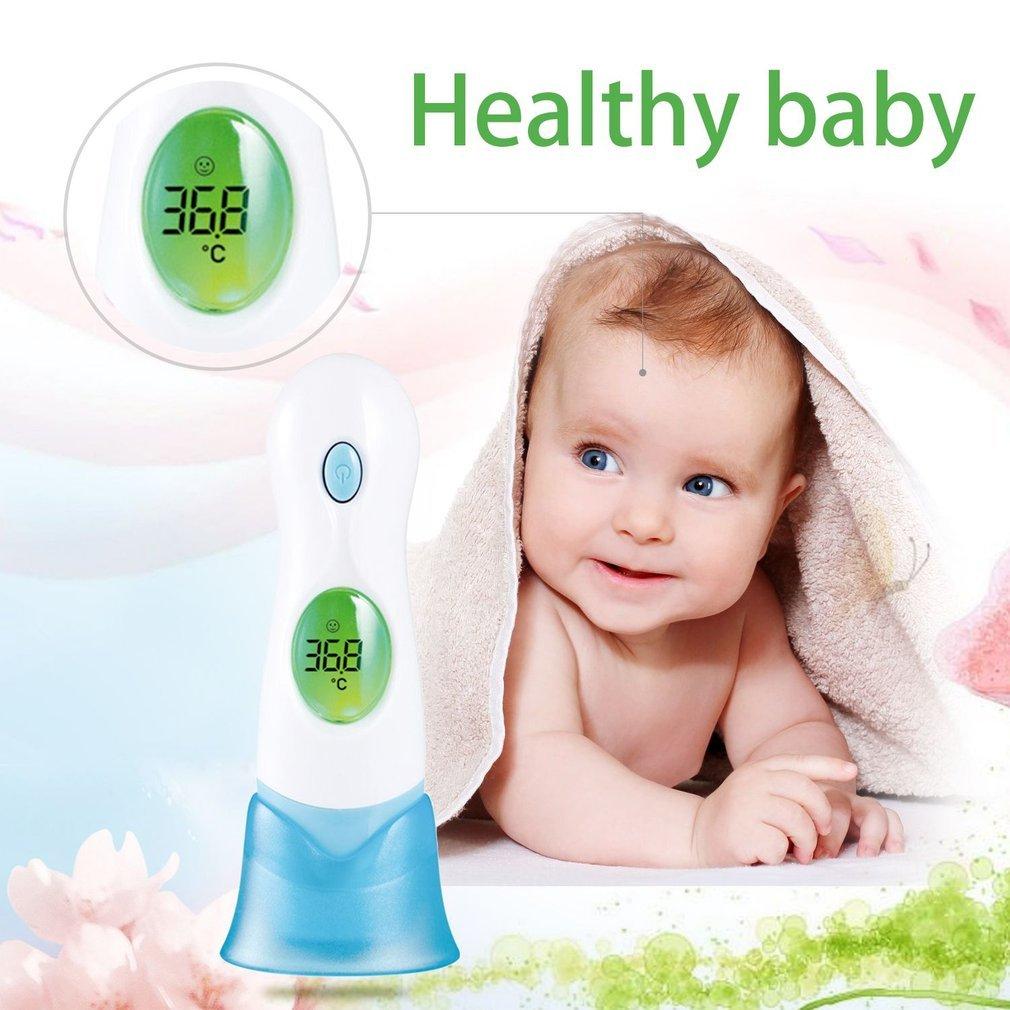 Isuper Juquete 8 en 1 beb/é infrarrojo Termometer Pantalla LCD Digital Ear term/ómetro de Frente