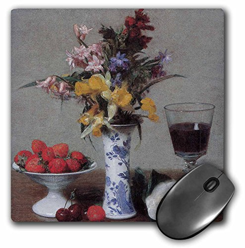 3dRose BLN Flower Paintings Fine Art Collection - The Betrothal Still Life by Henri Fantin-Latour Still Life - MousePad (mp_126459_1)