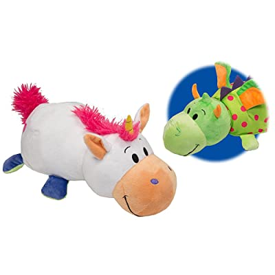 "Flip A Zoo 14"" Unicorn to Dragon Plush: Toys & Games"
