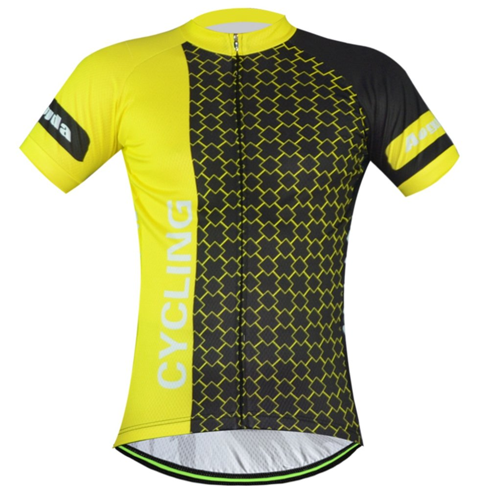 Uriahメンズ自転車ジャージ半袖Reflective B0716V15Y1 Chest 43.3''=Tag XXL|Life Yellow Life Yellow Chest 43.3''=Tag XXL