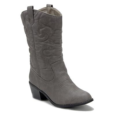 653eea1728c J'aime Aldo Women's TEX-25 Tall Stitched Western Cowboy Cowgirl Boots