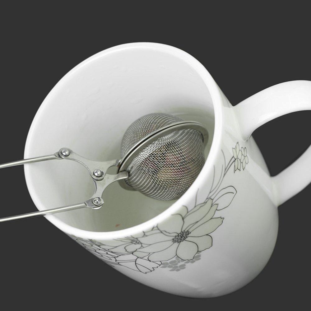 Xiton Edelstahl-L/öffel Teebl/ätter Ineinander Greifen-Kugel Infuser Filter Squeeze Sieb Sphere Locking Gew/ürz Kr/äuter