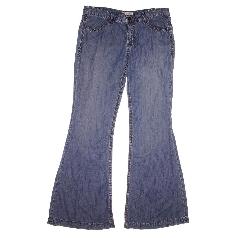 Free People Women's Denim Tencel Imperial Wash Flared Leg Jeans Size 26