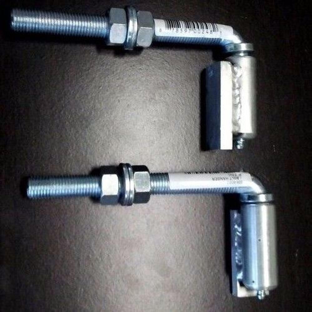 Pair of 5/8'' Aluminum Adjustable Barrel Hinge with Steel J-Bolt