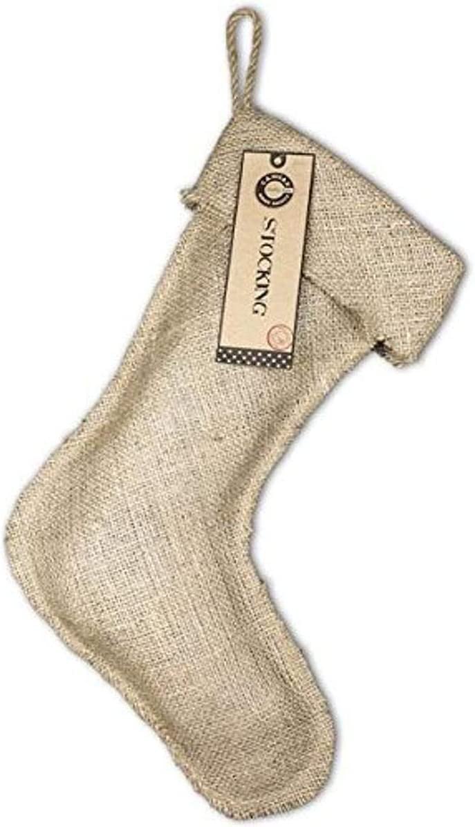 11-Inch by 17-Inch Canvas Corp Burlap Large Stocking