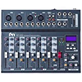 Proslogan SX-6SD Professional 6-Channel Mixing Console with Monitor and Effect Processor