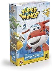 Grow - Super Wings Quebra Cabeça 60 Peças, 4+ Anos, Multicor, (Grow 11802)