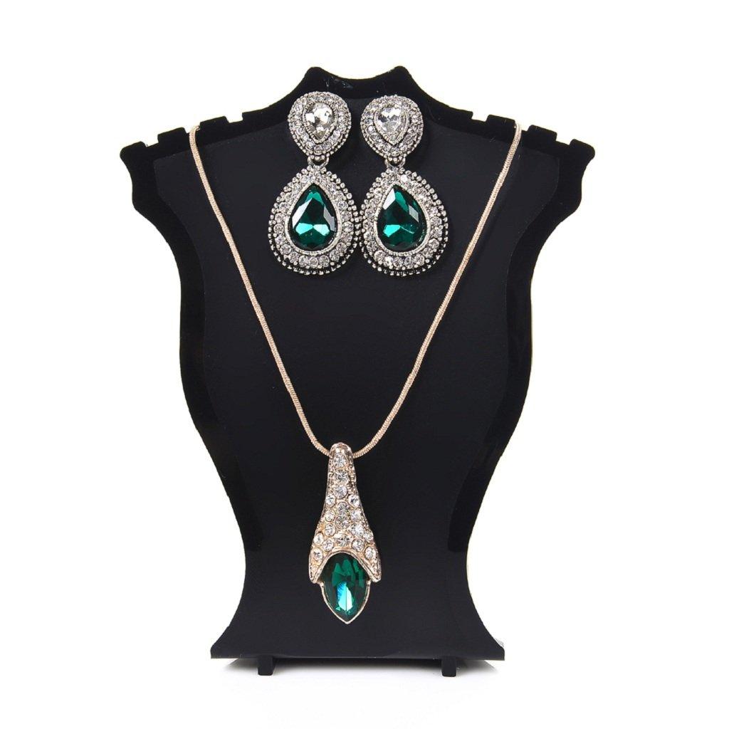 Fenteer Plastic Mannequin Necklace Jewelry Pendant Display Stand Holder Shelf Rack