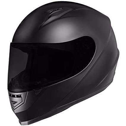 Lightweight Motorcycle Helmet >> Glx Unisex Adult Gx11 Compact Lightweight Full Face Motorcycle Street Bike Helmet With Extra Tinted Visor Dot Approved Matte Black Large