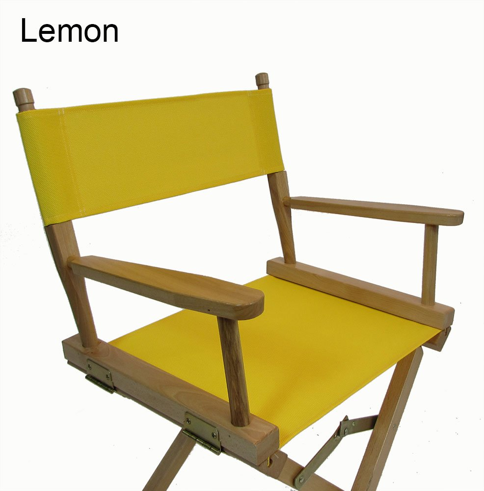 Mesh Directors Chair Replacement Cover (Round Stick) (Lemon)
