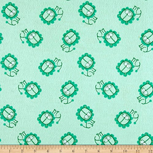 Aqua 42' Flannel (Flannel Lion Aqua Fabric By The Yard)