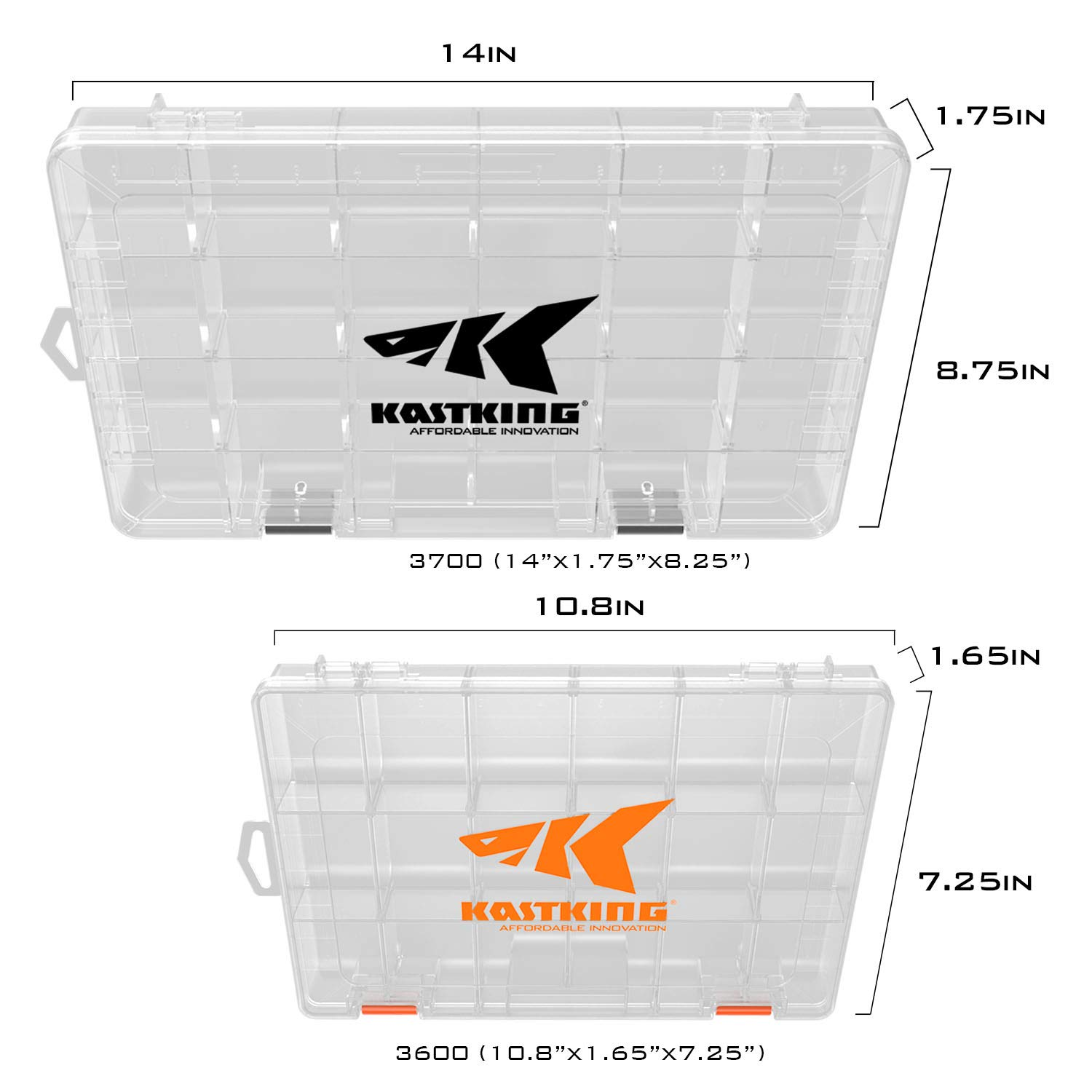 2 Packs //4 Packs Tackle Trays Plastic Storage Organizer Box with Removable Dividers- Fishing Tackle Storage Parts Box Tool Box KastKing Tackle Boxes Box Organizer