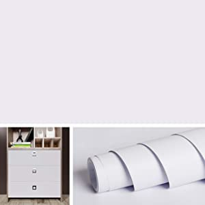 Livelynine White Contact Paper Matte Waterproof Wallpaper Peel and Stick Countertops White Vinyl Adhesive Shelf Liners for Kitchen Cabinets Paintable Wallpaper for Walls Shelves Bedroom 15.8x78.8 Inch