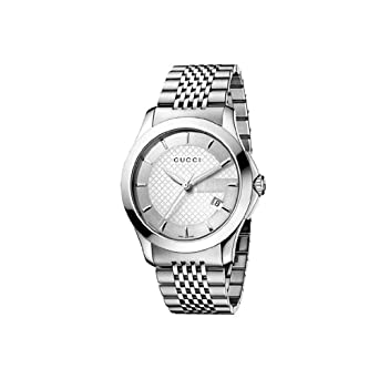 e2a8327e16b Image Unavailable. Image not available for. Color  GUCCI Men s YA126406 G  Timeless Brown Dial Watch