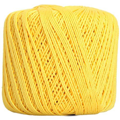 E 3 - Color 43 - YELLOW (Yellow Cotton Crochet Thread)